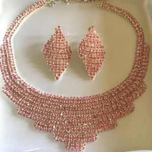 Jewelry - Stunning Cubic Zirconia Necklace and earring set
